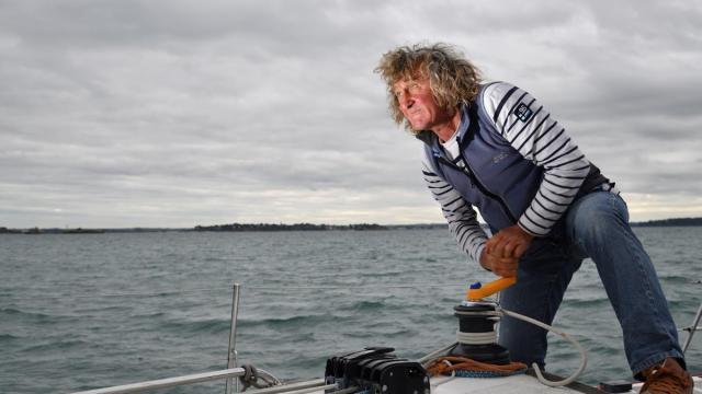 « Jojo » Guiguen a traversé l'Atlantique une trentaine de fois, mais jamais en course. Ce sera sa première Route du Rhum. | Luc Legrand