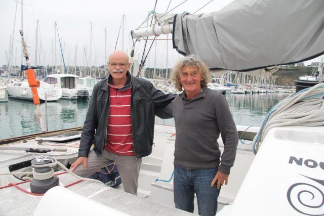 François Hamon et Georges Guiguen. | Anne Kiesel